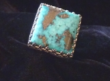 High Grade Morenci Turquoise and Sterling Silver Ring