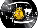 Hippie on van Loop-store handmade vintage vinyl clock