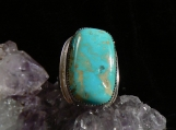 Large Tyrone Turquoise and Sterling Silver Ring