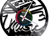 Music is my soul Loop-store handmade vintage vinyl clock