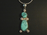Number 8 Turquoise and Sterling Silver Pendant