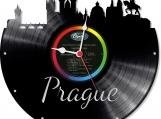 Prague Loop-store handmade vintage vinyl clock