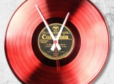 Red Loop-store handmade vintage vinyl clock