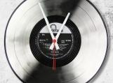 Silver Loop-store handmade vintage vinyl clock