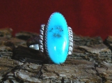 Sterling Silver and HG Candelaria Turquoise Ring