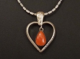 Sterling Silver and Mediterranian Coral Pendant