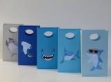 10 Shark Party Favor Bag - Candy Bag  Shark Treat Bag