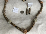 Brown Necklace & Earring Set