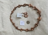 Copper Necklace & Earring set