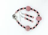 Coral Sparkle Bracelet Set