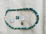 Green & Blue Necklace & earring set
