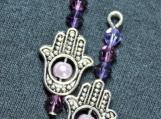 Hamsa Hand Purple
