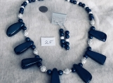 Navy Blue Necklace and earring  Set