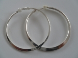 Semi Flat Round Hoop Clip On Earrings