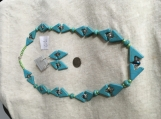 Turquoise Beaded Necklace Earring Set