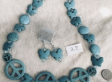Turquoise Color Necklace & Earing Set