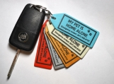 Emergency alert tag for your keys