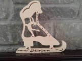 Personalized Wooden Figure Skate