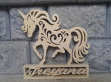 Personalized Wooden Unicorn