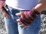 Delight Fingerless Mitts - PDF Knitting Pattern for Worsted Weight Yarn