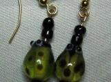 Green Lady Bug Earrings