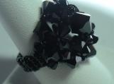 Jet Black WonderDome Swarovski Crystal Ring