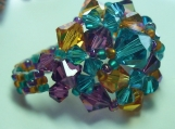 Multi Coloured Wonderdome Swarovski Crystal Ring