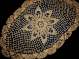 Sophisticated Crocheted Table Cover (Oval)