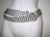 Black and White Stylish beaded fashion belt
