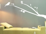 ShaNickers Wall Decal/ Sticker-&quot;Birdie Perched&quot;-FREE SHIPPING TO US!!