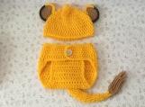 Simba Crochet Costume Lion King Baby Diaper Cover Set