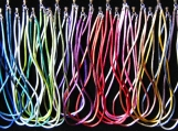 52 colour options Rayon Silk Cord Necklace Sterling Silver End Caps and Clasp Any Length