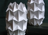 Handfolded Paper Tea Light Shades