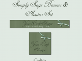 Simply Sage Premade iCraft Shoppe Banner and Avatar Set