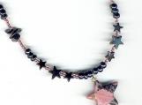 Hematite Stars and Rhodonite Healing Necklace