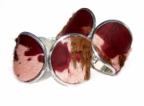 Purple Goatskin Burnout Silver Capped Cuff - LIMITED EDITION