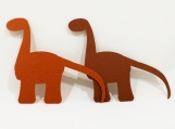 Paper Die Cut Dinosaurs for Scrapbooking - Two Brown