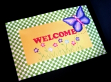 Cheerful Butterfly Welcome Mat / Floorcloth