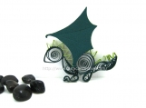 Quilled Dragon Dark Green Forest