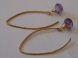 Essensual - Sparkly amethyst onion cut earrings
