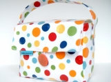 Ranbow Polka Dot Short Boxed Lunch Bag