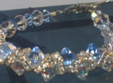 Bracelet with Light Sapphire and Clear AB Crystals