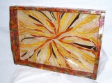 Sun Burst - Art Glass - Serving Tray