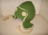 Green Earflapper Hat - Size 1-3yrs
