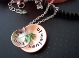 Mom Gift Hand stamped necklace great for Grandmas too