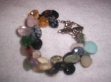 Multi colored gemstone teardrop bracelet
