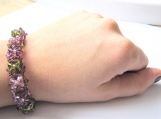 Purple 3D effect Swarovski Crystal Bracelet