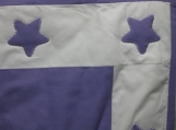 Purple and White Baby Quilt with Stars Applique