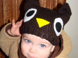 Kids Owl Knit Hat