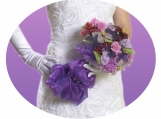 Beaded bridal bouquet: Study in purple